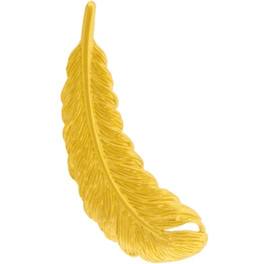 Gold Pendants - Feather with 24K Gold Plate DISCONTINUED