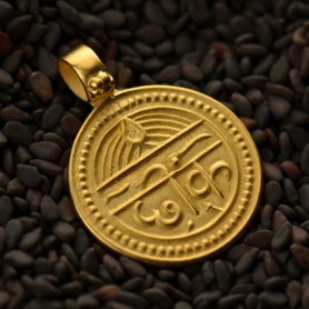 Gold Pendants - Good Health with 24K Gold Plate 23x18mm