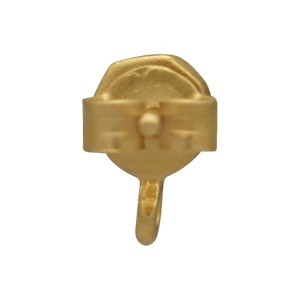 Gold Stud Earring - Nugget with Loop 8x5mm DISCONTINUED