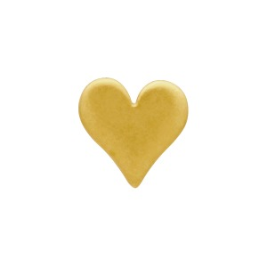 Gold Stud Earrings - Tiny Heart in 24K Gold Plate 5x5mm