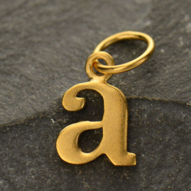 Gold Plated Typewriter Letter Charm A