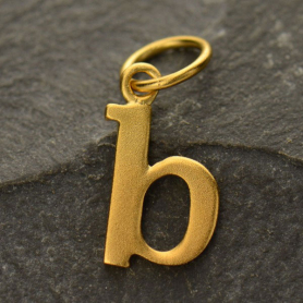 Gold Plated Typewriter Letter Charm B DISCONTINUED