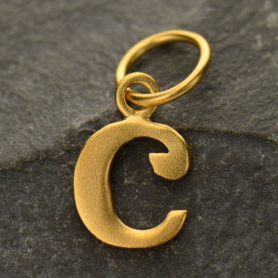 Gold Plated Typewriter Letter Charm C DISCONTINUED