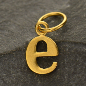 Gold Plated Typewriter Letter Charm E DISCONTINUED