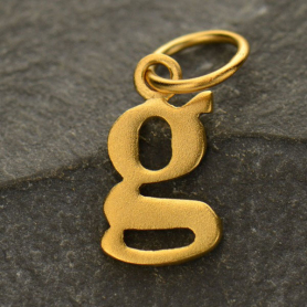 Gold Plated Typewriter Letter Charm G DISCONTINUED