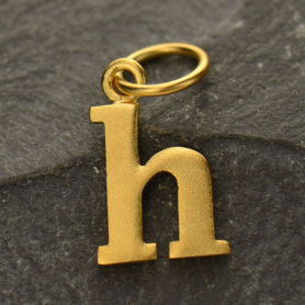 Gold Plated Typewriter Letter Charm H DISCONTINUED