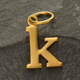 Gold Plated Typewriter Letter Charm K