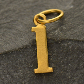 Gold Plated Typewriter Letter Charm L