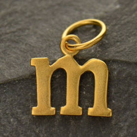Gold Plated Typewriter Letter Charm M