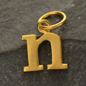 Gold Plated Typewriter Letter Charm N