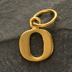 Gold Plated Typewriter Letter Charm O