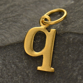 Gold Plated Typewriter Letter Charm Q