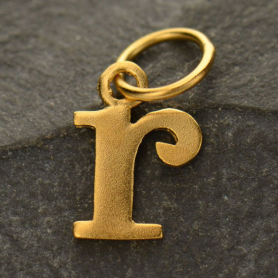 Gold Plated Typewriter Letter Charm R