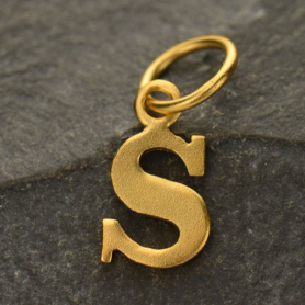Gold Plated Typewriter Letter Charm S