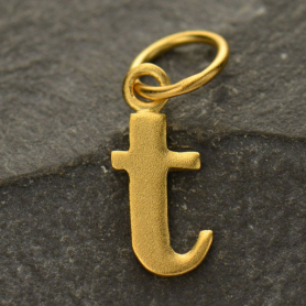 Gold Plated Typewriter Letter Charm T