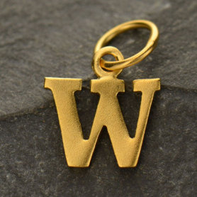 Gold Plated Typewriter Letter Charm W