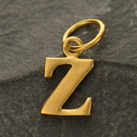 Gold Plated Typewriter Letter Charm Z