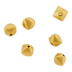 Gold Spacer Bead - Diamond Shape in 24K Gold Plate