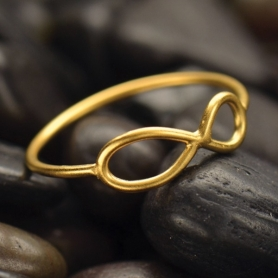Infinity Ring with 24K Gold Plate