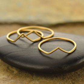 Chevron Ring with 24K Gold Plate