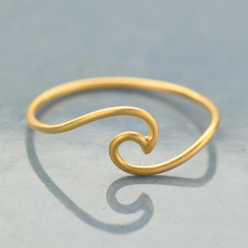 Wave Ring in 24K Satin Gold Plate