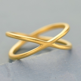 Crisscross Ring with 24K Gold Plate