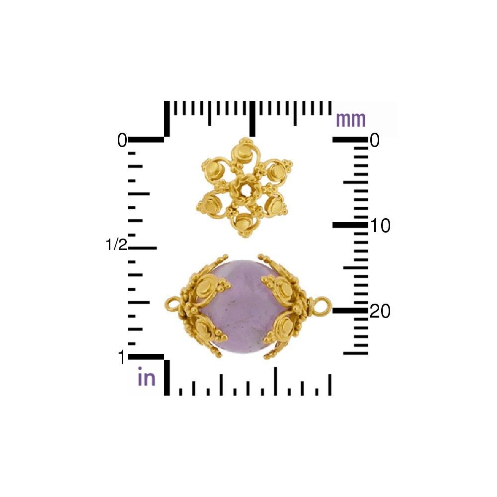Gold Plated Bead Cap - Filigree Flower Shape