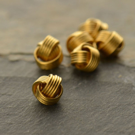 Gold Bead - Small Knot with 24K Gold Plate