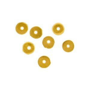 24K Gold Plated Spacer Bead - Small Flat Spacer 3x3mm
