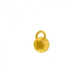 Gold Charm - Disc Dangle with 24K Gold Plate 7x5mm