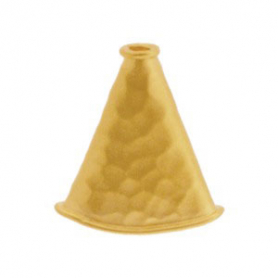 Gold Flat Cone Cord End with 24K Gold Plate DISCONTINUED