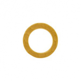 Jewelry Part - Sm Hammered Circle Link in 24K Gold Plate
