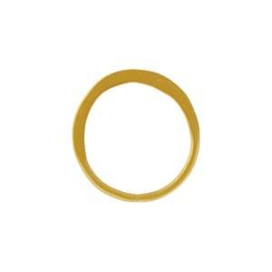 Half Hammered Circle Link in 24K Satin Gold Plate 12mm