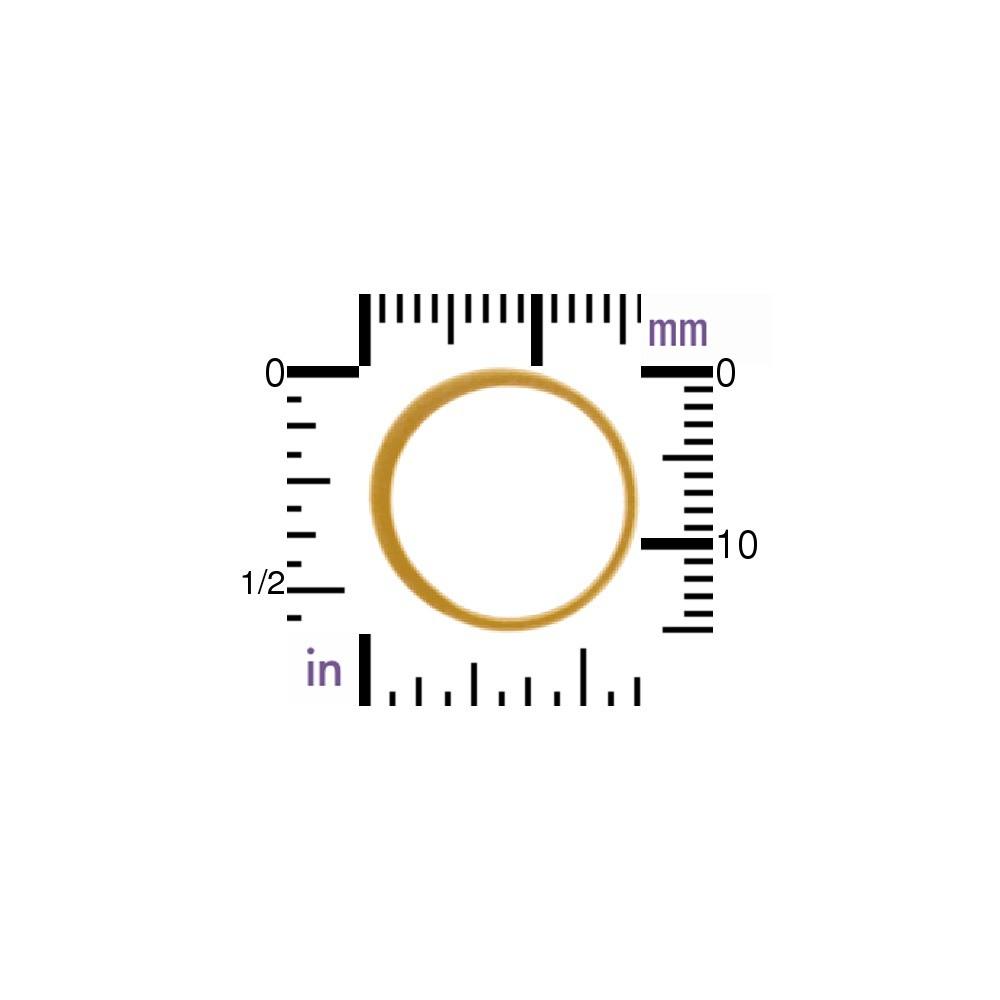 24K Gold Plate Half Hammered Circle Link 15mm