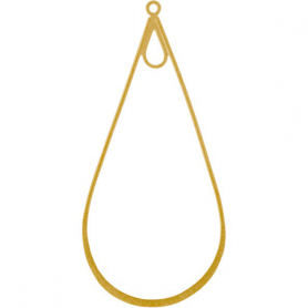 Large Teardrop Link in 24K Gold Plate DISCONTINUED