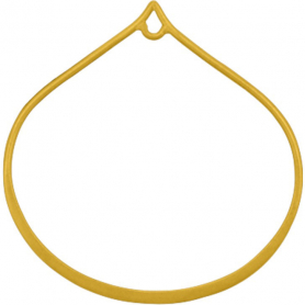 24K Gold Plate Wide Bottom Teardrop Link with Loop 30x29mm