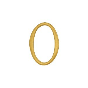 Jewelry Supplies - Small Oval Link in 24K Gold Plate