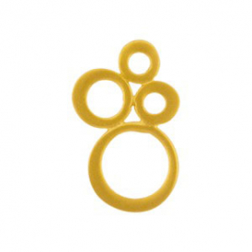 Sm Bubble Cluster Link in 24K Gold Plate DISCONTINUED