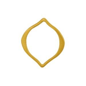 24K Satin Gold Plate Arabesque Link -15mm