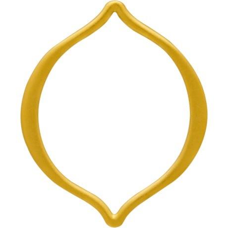 Jewelry Supplies - Medium Arabesque Link in 24K Gold Plate