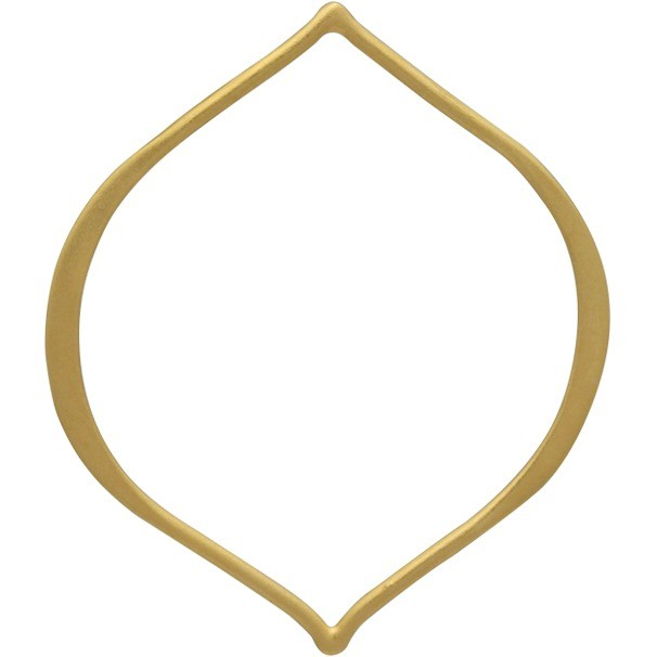 Jewelry Supplies - Large Arabesque Link in 24K Gold Plate
