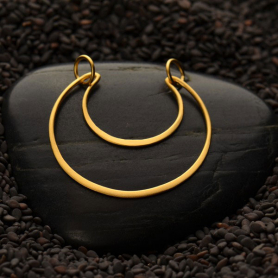 Jewelry Supplies - Crescent Moon Festoon in 24K Gold Plate