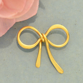 Jewelry Parts - Bow Link with 24K Gold Plate DISCONTINUED