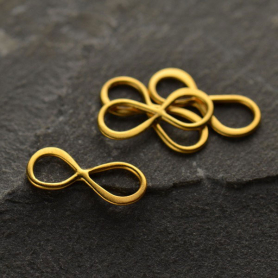 24K Gold Plated Small Infinity Link 5x13mm