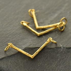 Jewelry Supplies - Sm Chevron Festoon in 24K Gold Plate