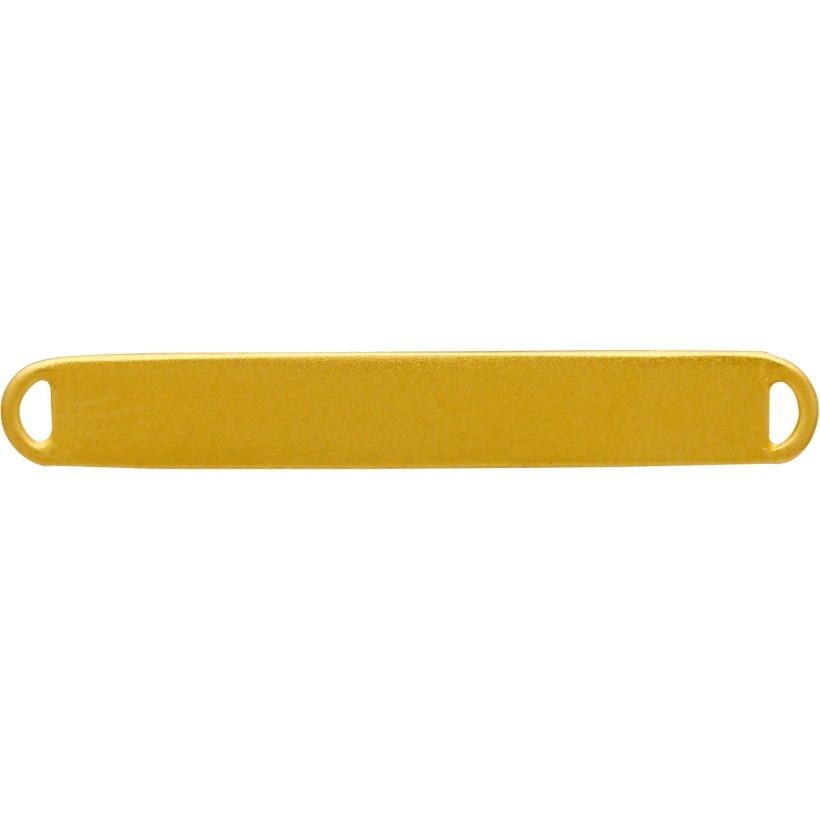 Jewely Supplies - Short Stamping Blank Bar in 24K Gold Plate