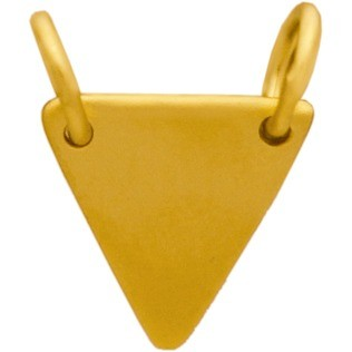 Triangle Stamping Blank in 24K Gold Plate DISCONTINUED