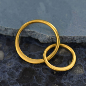 Satin 24K Gold Plated Two Circles of Life Link 19x12mm