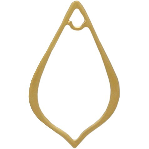 Jewelry Parts - Sm Pointed Teardrop Link in 24K Gold Plate