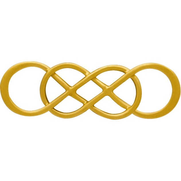 24K Gold Plated Intertwined Infinity Link 8x26mm